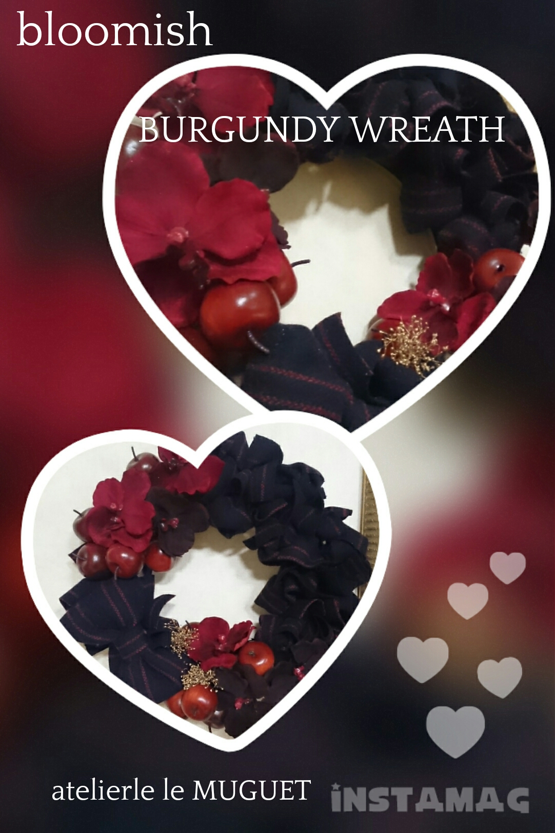 bloomish  BURGUNDY wreath